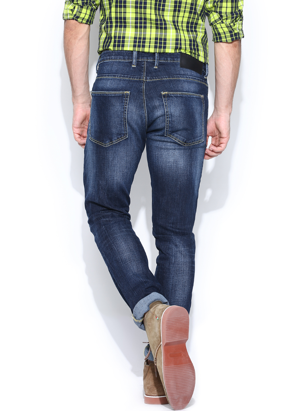 Myntra United Colors of Benetton Men Blue Skinny Fit Jeans 722669 | Buy Myntra United Colors of ...