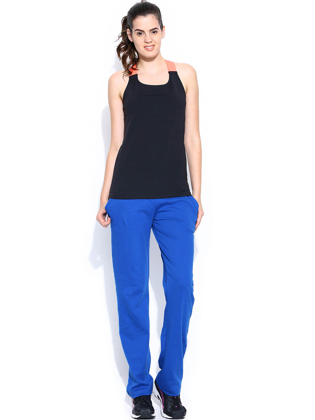 Myntra Alibi Women Blue Track Pants 743315 | Buy Myntra Alibi Track Pants at best price online ...