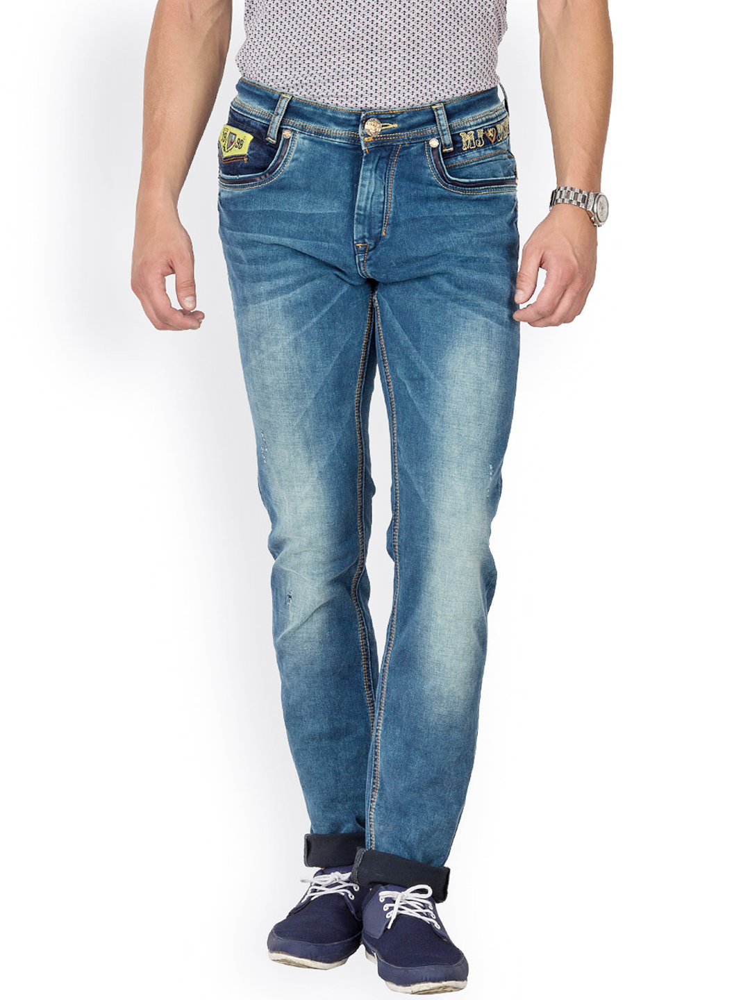 Myntra Mufti Men Blue Jeans 749923 | Buy Myntra Mufti Jeans at best price online. All myntra ...