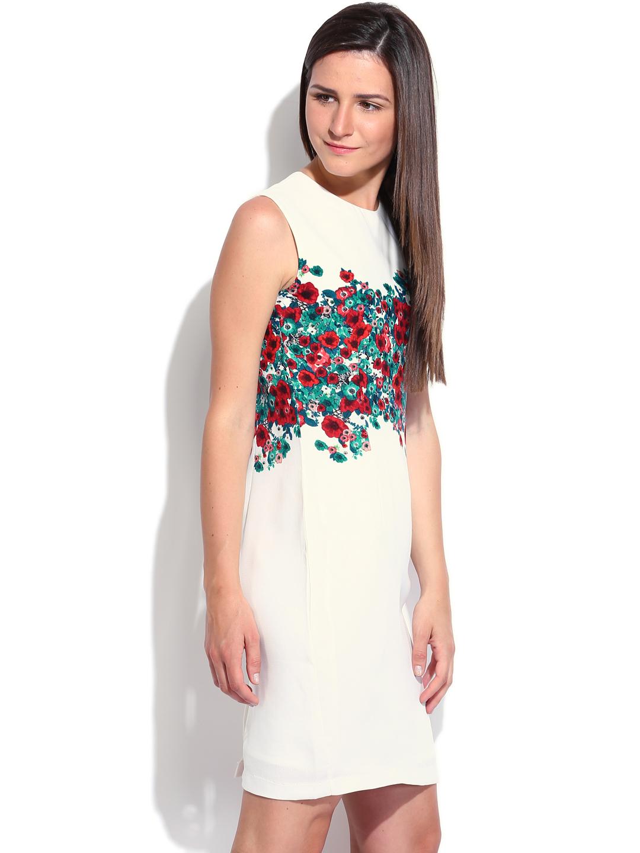 Creative Myntra Van Heusen Woman White U0026 Navy Striped Blouson Dress 834613 | Buy Myntra Van Heusen Woman ...