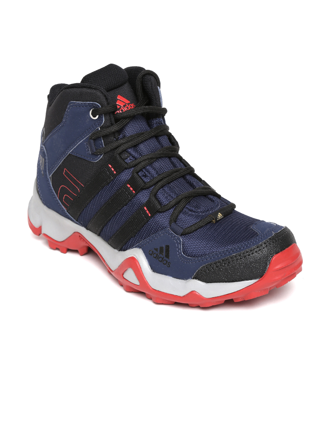 Myntra Adidas Men Navy U0026 Black AX2 Mid Outdoor Shoes 783756 | Buy Myntra Adidas Sports Shoes At ...