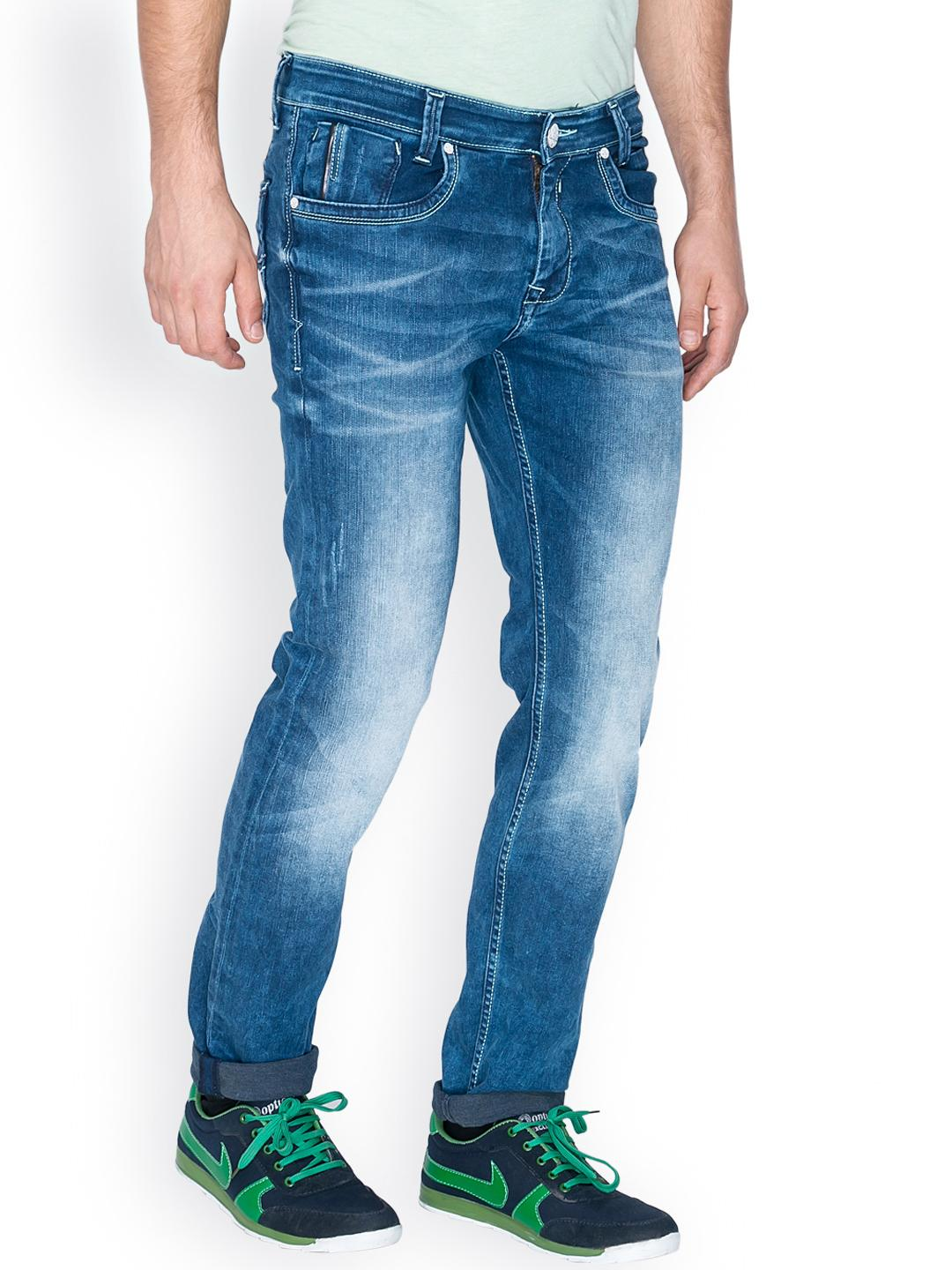 Myntra Mufti Men Blue Regular Fit Jeans 800725 | Buy Myntra Mufti Jeans at best price online ...