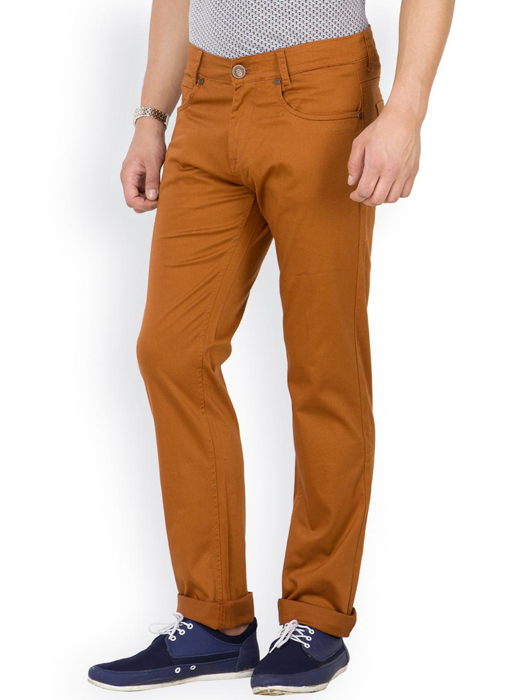 Myntra Mufti Men Brown Tapered Jeans 800921 | Buy Myntra Mufti Jeans at best price online. All ...