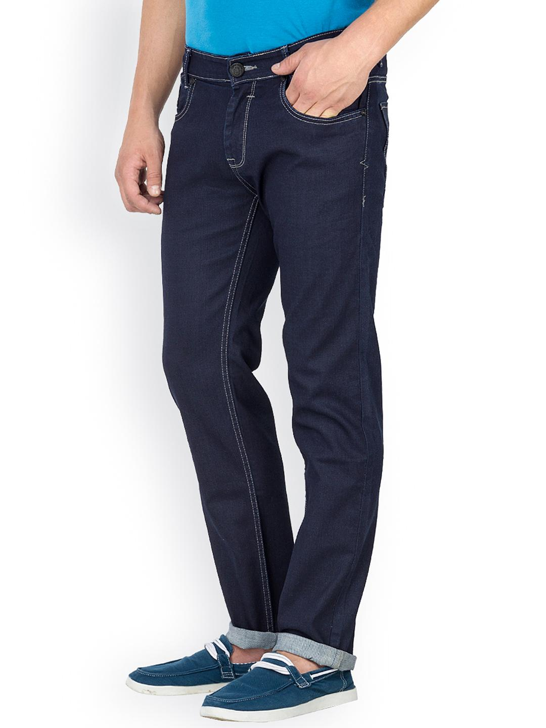 Myntra Mufti Men Navy Blue Tapered Jeans 800957 | Buy Myntra Mufti Jeans at best price online ...