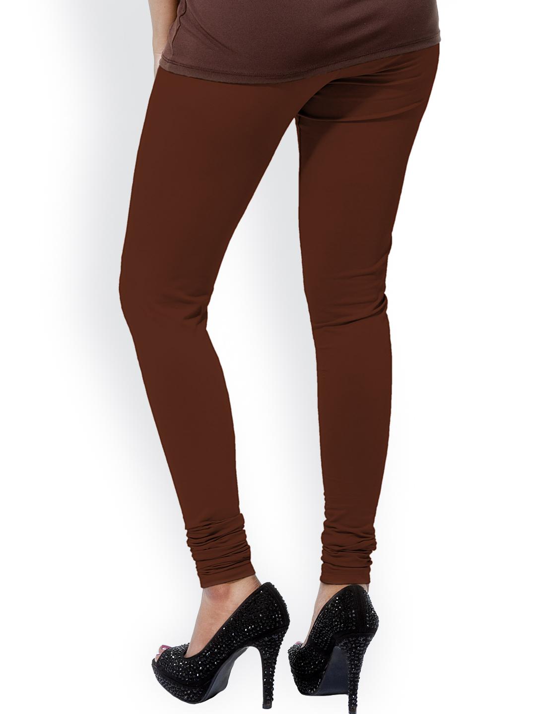 Myntra Go Colors Brown Churidar Leggings 816056 | Buy Myntra Go Colors Leggings At Best Price ...