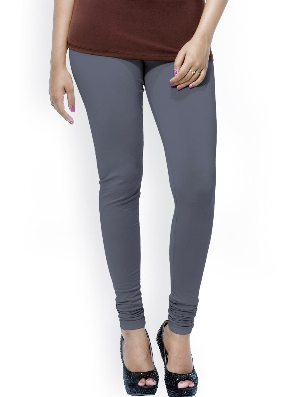 Myntra Go Colors Grey Cotton u0026 Lycra Churidar Leggings 860083 | Buy Myntra Go Colors Leggings at ...