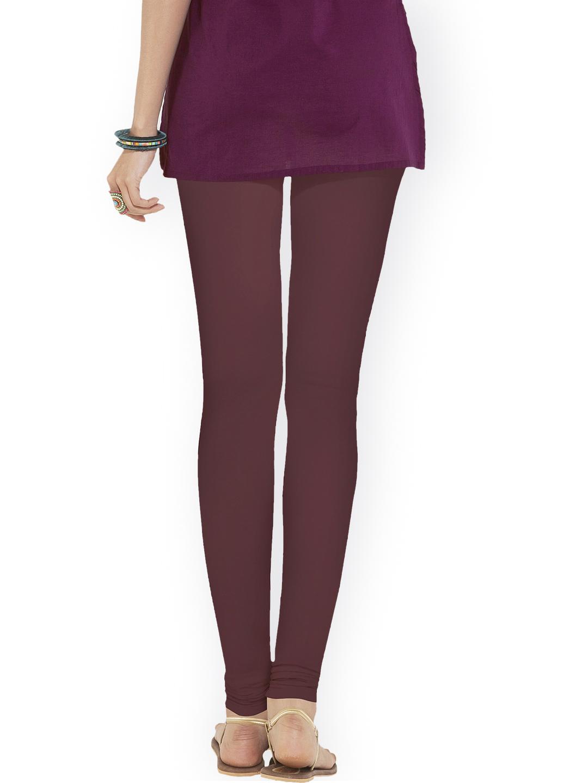 Myntra Go Colors Maroon Churidar Leggings 910140 | Buy Myntra Go Colors Leggings at best price ...