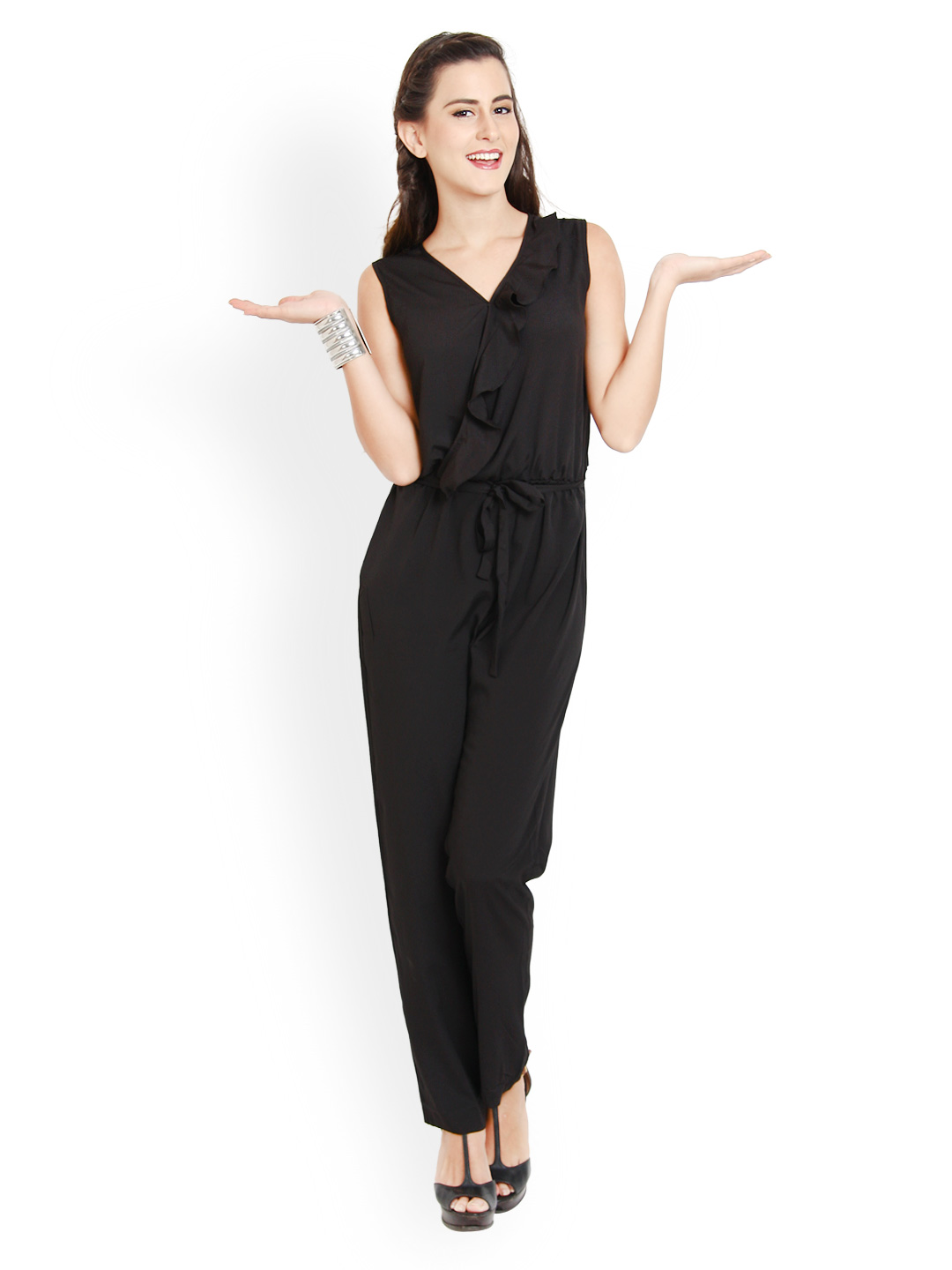 Myntra Avirate Women Black Jumpsuit 574195 | Buy Myntra Avirate Jumpsuit At Best Price Online ...