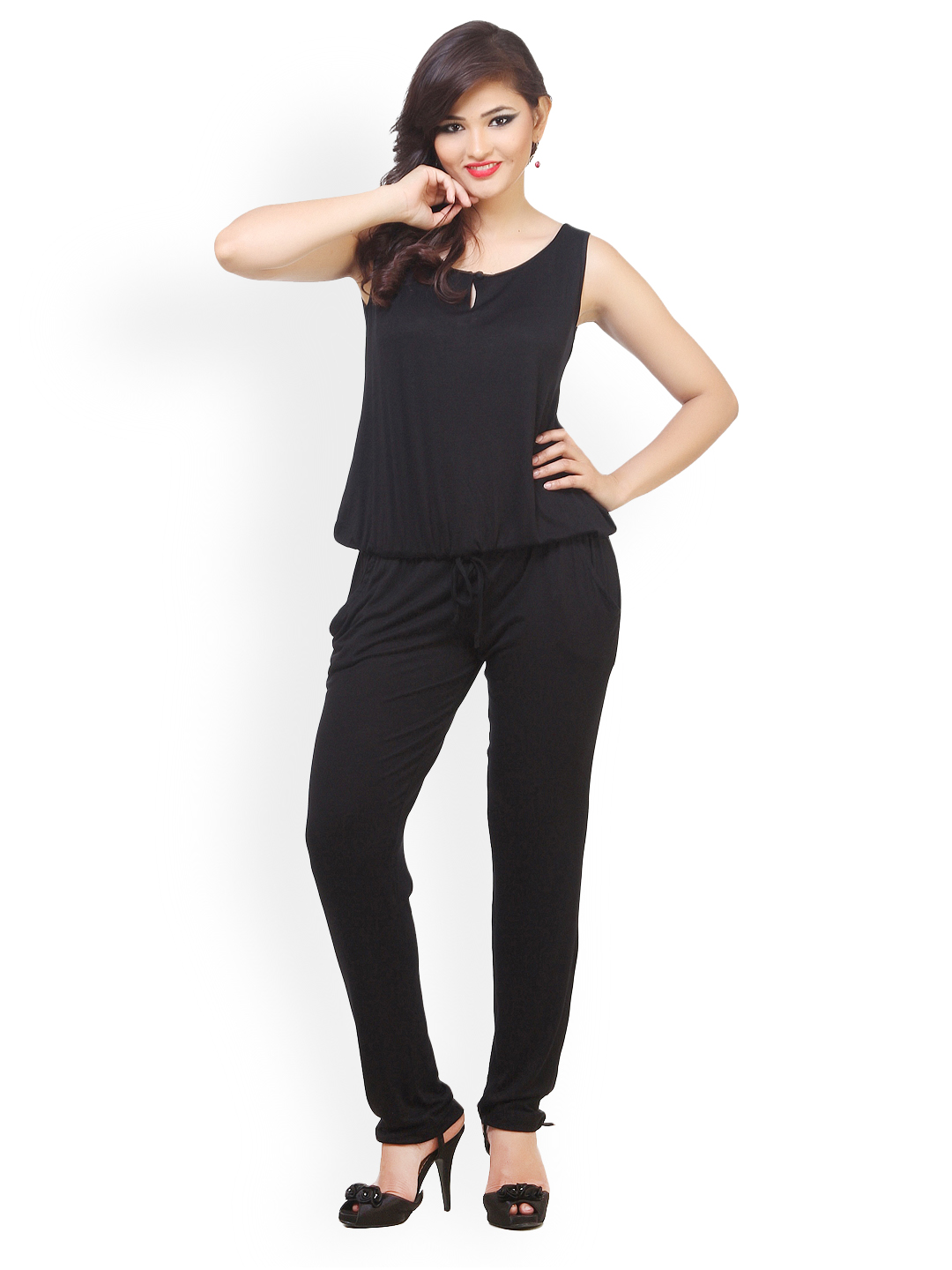 Myntra Cottinfab Women Black Jumpsuit 753591 | Buy Myntra Cottinfab Jumpsuit At Best Price ...