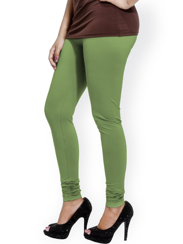 Myntra Go Colors Green Ankle-Length Churidar Leggnigs 816071 | Buy Myntra Go Colors Leggings at ...