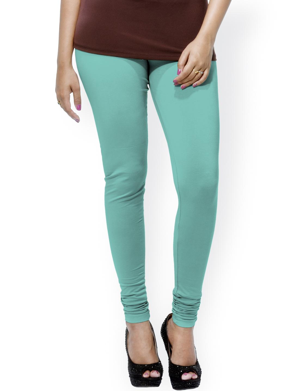 Myntra Go Colors Green Ankle-Length Churidar Leggnigs 816069 | Buy Myntra Go Colors Leggings at ...