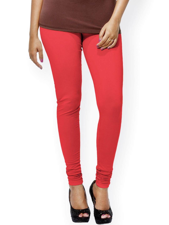 Myntra Go Colors Red Churidar Leggings 816029 | Buy Myntra Go Colors Leggings at best price ...