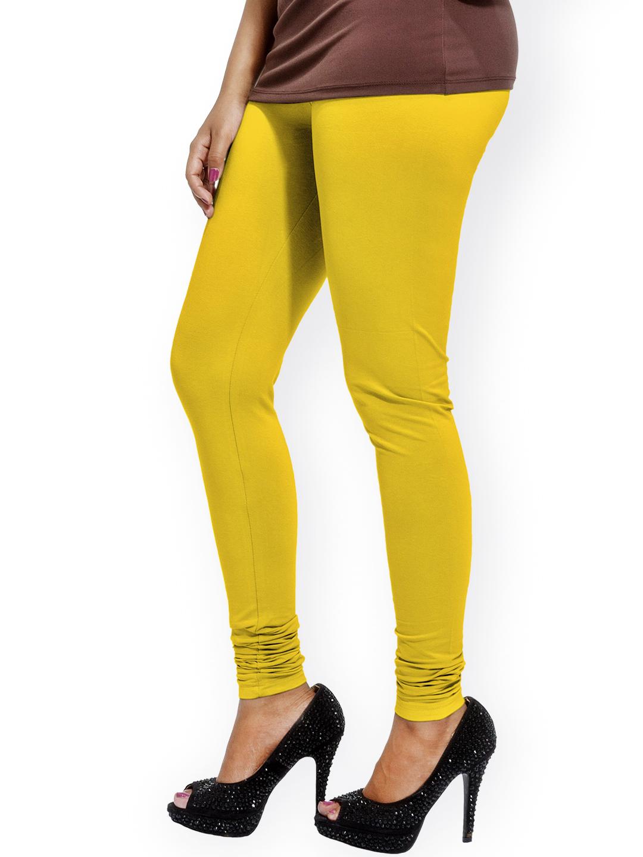 Myntra Go Colors Yellow Churidar Leggings 816033 | Buy Myntra Go Colors Leggings at best price ...