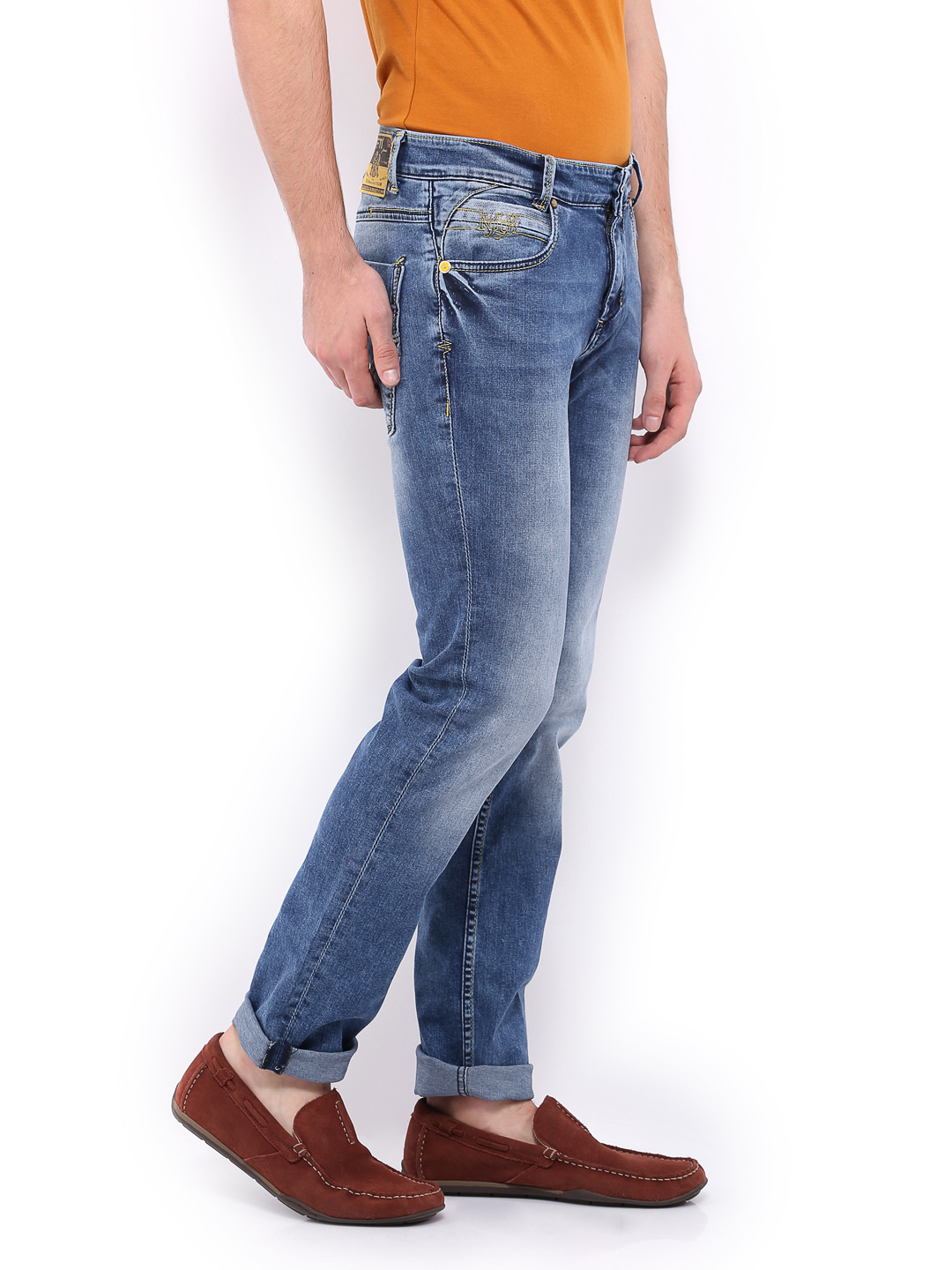 Myntra Mufti Men Blue Narrow Fit Jeans 399617 | Buy Myntra Mufti Jeans at best price online. All ...