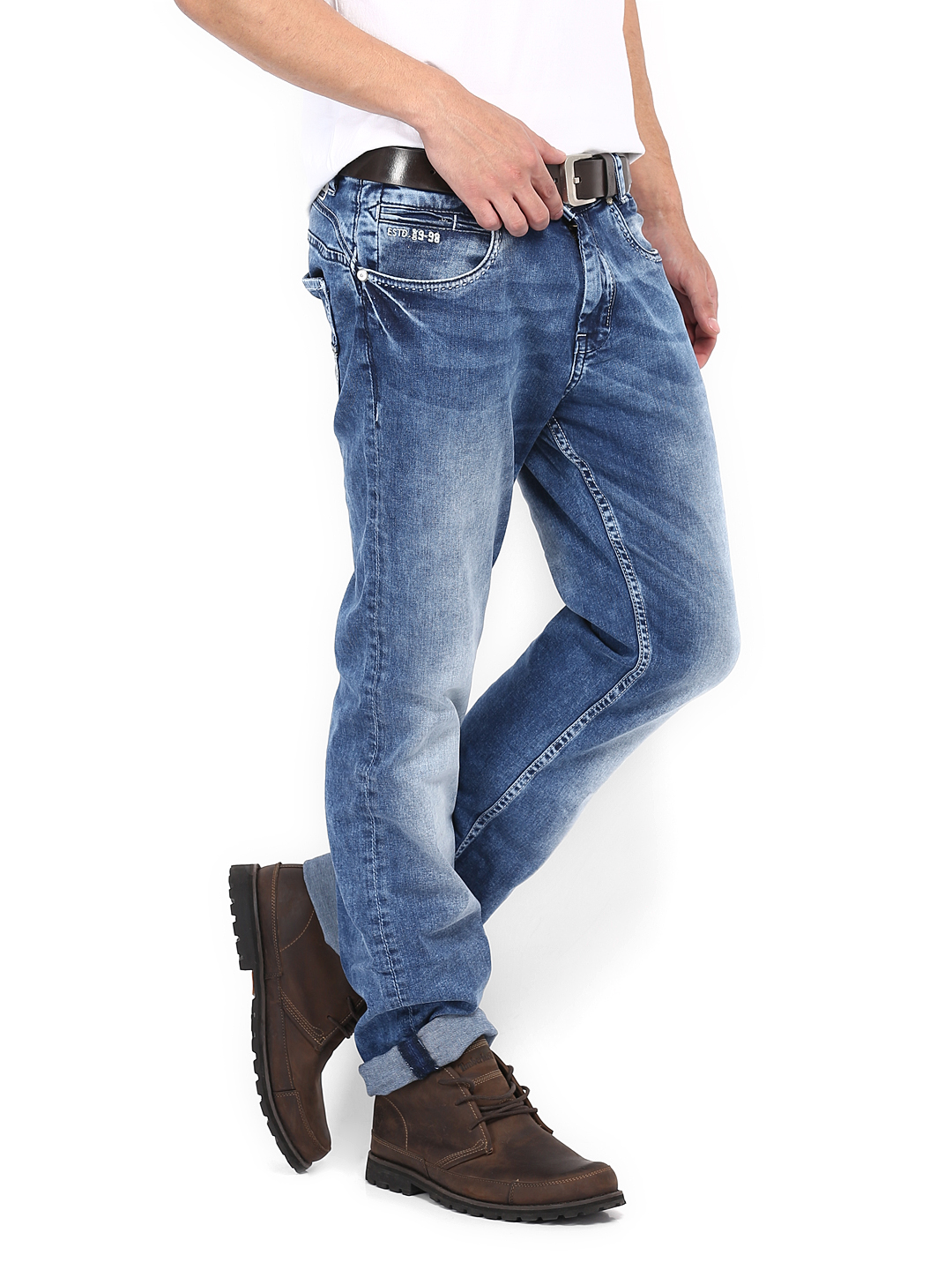 Myntra Mufti Blue Straight Fit Jeans 399637 | Buy Myntra Mufti Jeans at best price online. All ...