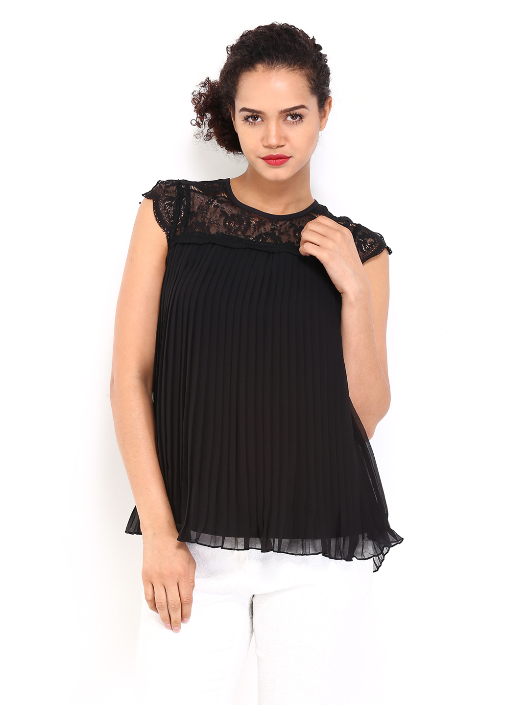 Myntra Vero Moda Women Black Formal Top 417008 | Buy Myntra Vero Moda Tops At Best Price Online ...