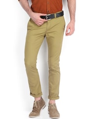 Highlander Men Khaki Slim Fit Trousers