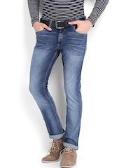 Locomotive Men Blue Super Slim Fit Jeans
