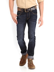 Roadster Men Indigo Dyed Skinny Fit Jeans