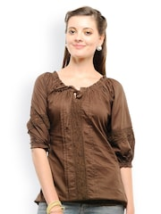 U&F Women Brown Top
