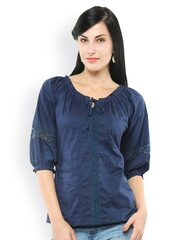 U&F Women Navy Top