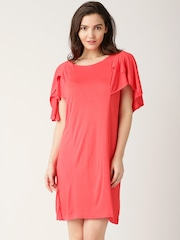 DressBerry Coral Pink Sheath Dress