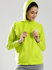 Russell Athletic Lime Green Hooded Sweatshirt