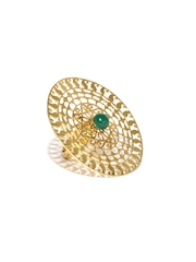 ahilya Gold-Plated Sterling Silver Statement Ring