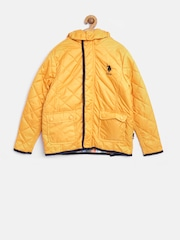 U.S. Polo Assn. Kids Boys Yellow Quilted Jacket