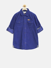 U.S. Polo Assn. Kids Boys Blue Corduroy Shirt