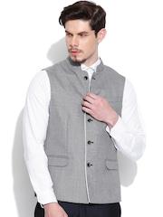 Blackberrys Grey Slim Fit Nehru Jacket