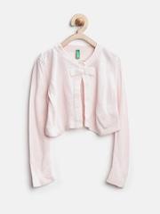 United Colors of Benetton Girls Pink Bolero Shrug