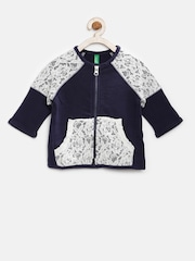 United Colors of Benetton Girls Navy Lace Sweatshirt