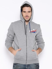 PUMA Grey Melange Hooded Sweatshirt