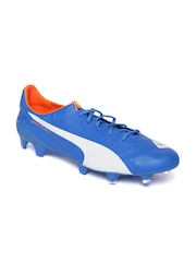 PUMA Men Blue evoSPEEDD SL FG Football Shoes