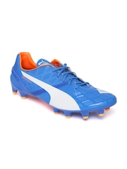 PUMA Men Blue evoSPEED 1.4 FG Textured Football Shoes