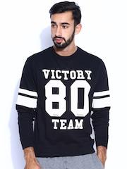 Flying Machine Black Printed Sweatshirt