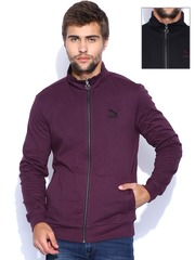 PUMA Black & Purple Reversible Sweatshirt