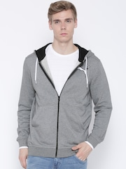 PUMA Grey Melange Hooded Sweatshirt