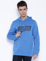 PUMA Blue Hooded Sweatshirt