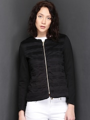 Suo Black Textured Jacket