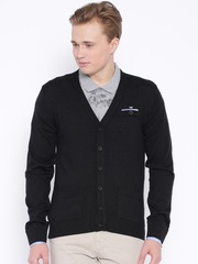 Arrow Sport Black Woollen Cardigan