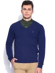 Arrow Sport Blue Woollen Sweater