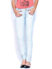 Lee Light Blue Low-Rise Maxi Skinny Fit Jeans
