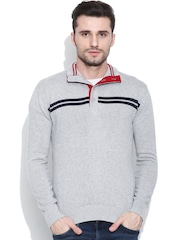 Pepe Jeans Grey Sweater with Striped Detail