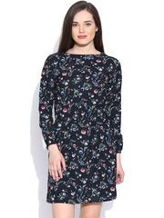 Pepe Jeans Black Floral Print Fit & Flare Dress