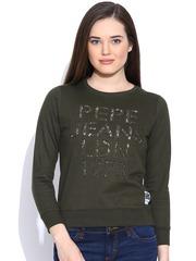 Pepe Jeans Olive Green Sweatshirt