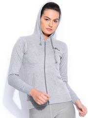 Sports52 Wear Grey Melange Hooded Sweatshirt