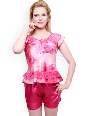 Private Lives Pink Printed Night Suit LI1135