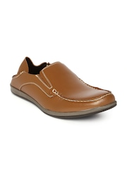Franco Leone Men Tan Brown Leather Loafers